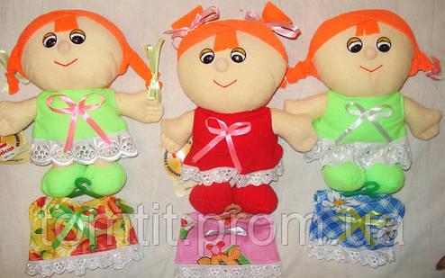 """Кукла мягконабивная, тканевая """"Клара"""" (2 платья - салатовое и желтое), фото 2"""