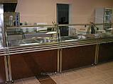 Охолоджуваний Прилавок для тарілок з холодильною камерою з двома полками і гнутим склом, фото 2