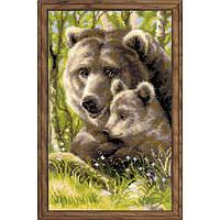 Набор для вышивки крестом Риолис 1438 Медведица с медвежонком