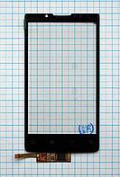 Тачскрин сенсорное стекло для Huawei Ascend X/V Ideos X6 U9000 black