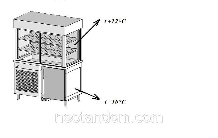 Стол тумба холодильная с холодильным кубом надставкой