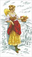 Набор для вышивки крестом RTO M173 Девушка с фруктами