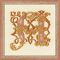 """Набор для вышивки крестом Риолис 1291 Буква """"А""""."""