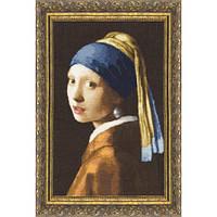 Набор для вышивки крестом Золотое Руно МК-021 Девушка с жемчужной сережкой