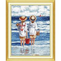 Набор для вышивки крестом DOME 110904 Дети на пляже