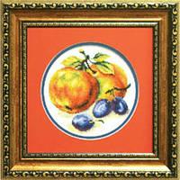 Набор для вышивки крестом Чарівна Мить 442ч Сливы с яблоками