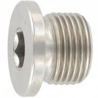 Пробка резьбовая М16*1,5, DIN 908 цилиндрическая, (ОСТ 2С98-4-73) с буртиком  и внутренним шестигранником.
