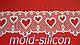"""Силиконовый коврик """"Сердечки 2"""", фото 2"""
