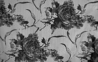 """Ткань жаккардовая  для штор в стиле Арт-деко для черно-белых интерьеров """"Misha Rose"""""""