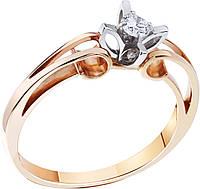 Кольцо с бриллиантом золотое , фото 1