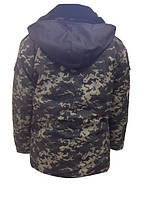 Куртка р 48/50 камуфляжная с меховой подкладкой