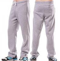 ЗИМНИЕ спортивные штаны мужские больших размеров утепленные трикотажные светло серые  баталы Украина
