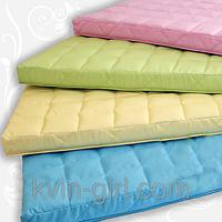 Детский матрасик в кроватку Радуга, 60x120х8, кокос, поролон, гречка, бязь, Розовый