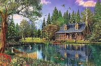 """Набор алмазной вышивки (мозаики) """"Уютный дом у озера"""""""