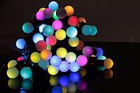 Новогодняя светодиодная гирлянда Шарики 40 ламп с коннектором: длина 5 метров