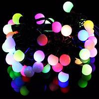 Новогодняя гирлянда шарики: 40 ламп, 5 метров с коннектором ( 2 цвета)