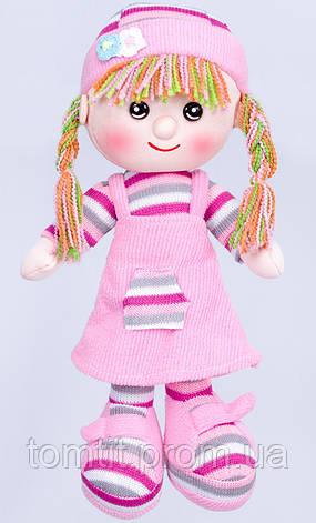 Кукла мягконабивная, тканевая, вязаная, цвет розовый, фото 2