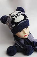 Комплект подростковый, шапка и шарф