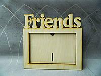 "Деревянная рамка для фото ""Friends"""