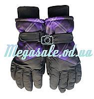 Перчатки горнолыжные женские Winter Race (перчатки лыжные): размер M, фиолетовый