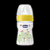 Бутылочка пластиковая Chicco Well-Being с силикованой соской 0+ 150 мл Желтая (20611.30.50), фото 1