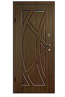 Двери бронированные Украина 96 см, правые Дуб темный (покрытие винорит) 100% вата