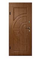 Двери бронированные Украина 86 см, левая Золотой дуб (покрытие винорит) 100% вата