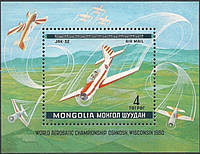 Монголия 1980 - самолёты - блок - MNH XF