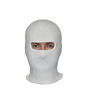 Балаклава зимняя (шапка-маска) двойная вязка (белый)