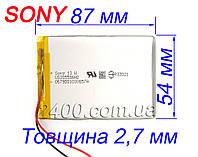 Аккумулятор 2000мАч 305586 3,7в универсальный SONY 2000mAh 3.7v 3*55*86 мм