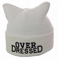 Белая зимняя шапка Over DresseD