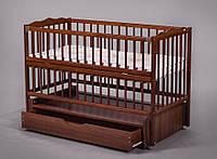 Кроватка для новорожденного ( маятник) Веселка (Дубок).