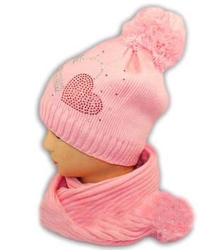 Набор зимний шапка с шарфом для девочки