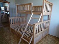 Двухъярусная кровать Жасмин 140 + матрасы Чемпион