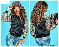 Женская куртка рукава Лео, размер 46-48