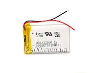 Аккумулятор (батарея) для видеорегистратора 1000mAh 523350 3.7v, сигнализации, наушников, Bluetooth (1Wh)