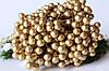 Глянцевые ягоды (калина) 400 шт/уп. 1 см диаметр, золотого цвета оптом