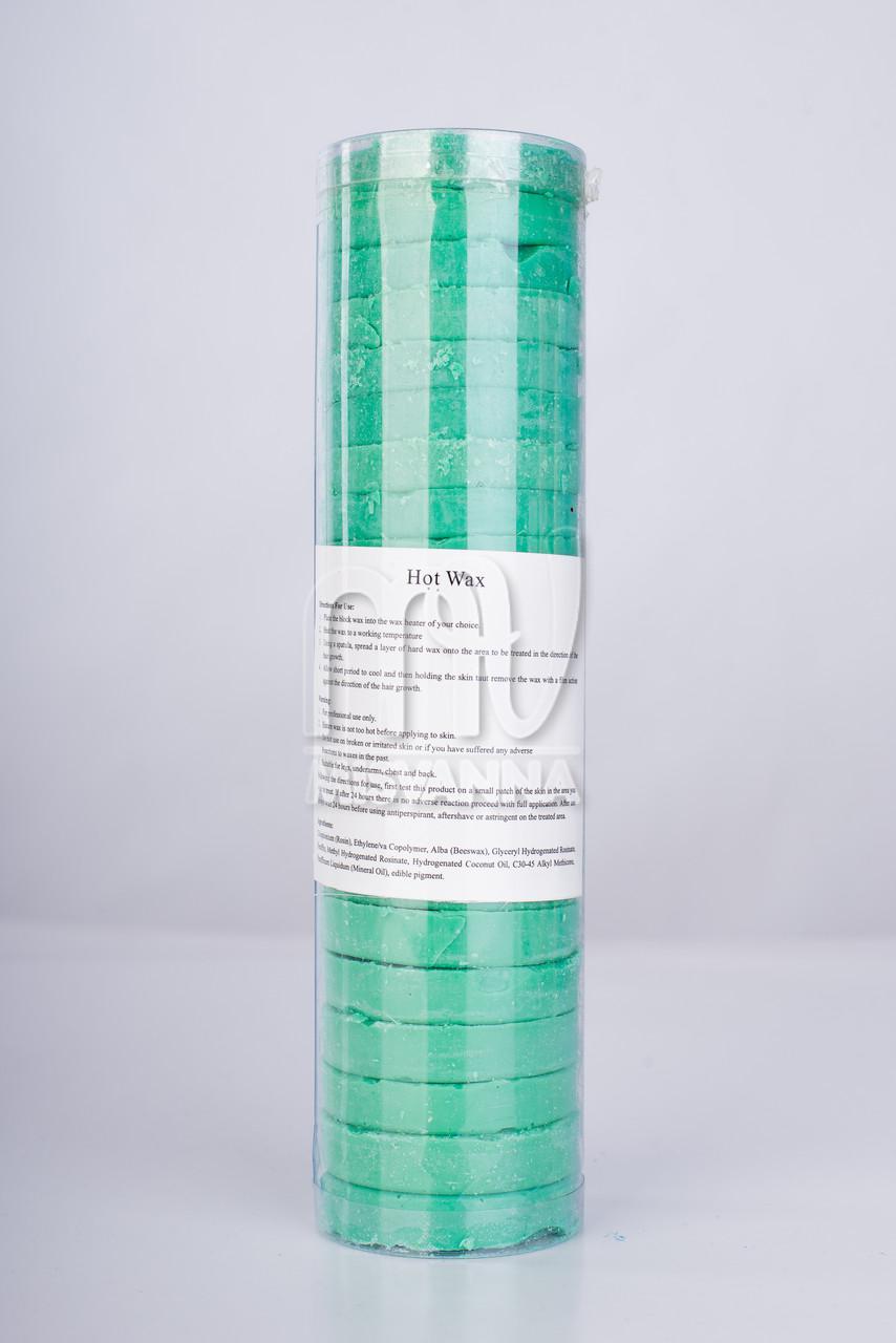 Горячий воск в дисках Brazilian Wax, зеленый, 500 г