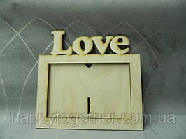 """Деревянная рамка для фото """"Love"""""""