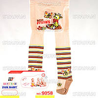Детские качественные колготки для новорожденных оптом Shuguan 9058 86-92-9