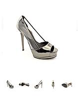 Серебристые туфли Pour La Victoire, фото 1
