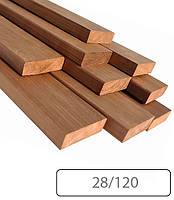 Полок широкий термоосина 28х120 для бани и сауны