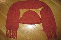 Шапка + шарф, ШЕРСТЬ, 58-64 р. как НОВАЯ!!!