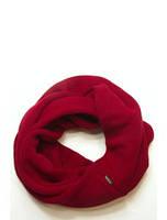Шарф-снуд бордовый вязаный, зимний
