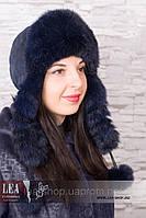 Меховая женская шапка(кролик первый сорт)