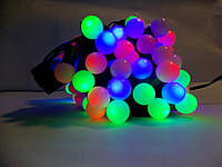 "LED light  ШАРИКИ 1,8"" MULTI гирлянда, yellow, green, blue-yellow, мульти, желтая, зеленая, желто-голубая"