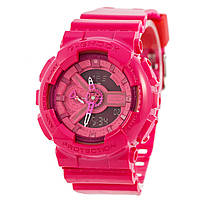 Часы  женские G-Shock - GA-110, стальной бокс, розовые