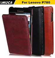 Кожаный чехол флип IMUCA для Lenovo P780 черный