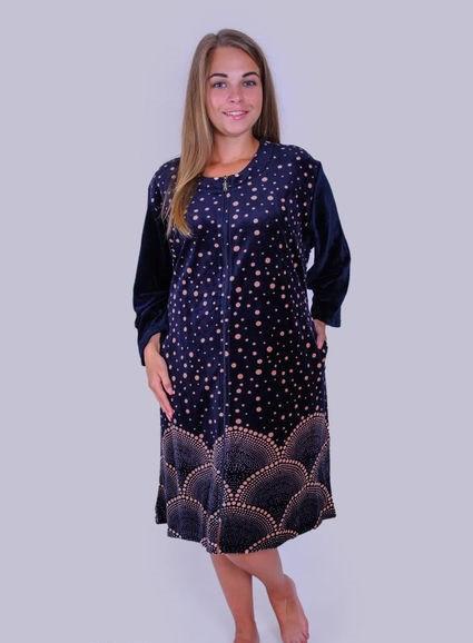 Велюровый женский халат больших размеров