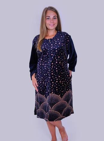 Велюровый женский халат больших размеров, фото 2